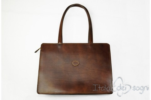 bag in refined leather