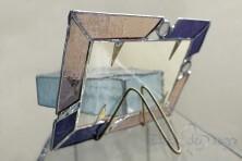 """Composizione in vetro """"gioie blu"""""""
