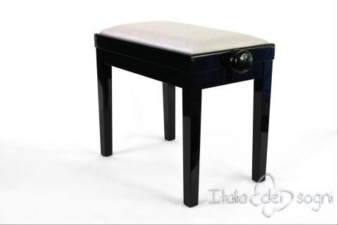 """Small Bench for Piano """"Rossini"""" - gray velvet"""