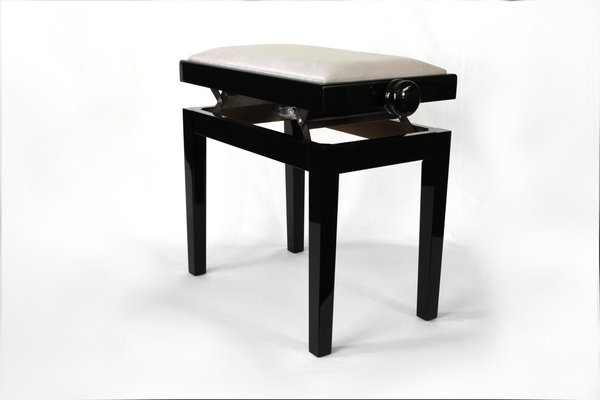 tabouret de piano rossini velours gris. Black Bedroom Furniture Sets. Home Design Ideas