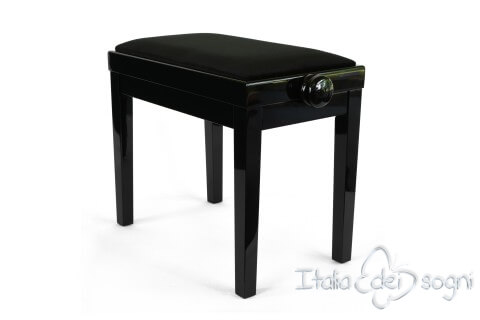 "Small Bench for Piano ""Rossini"" - black velvet"