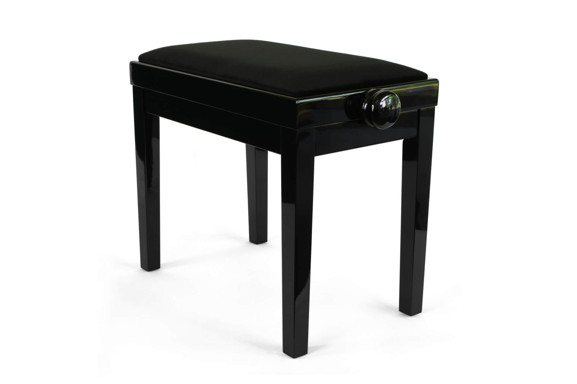 tabouret de piano rossini velours noir. Black Bedroom Furniture Sets. Home Design Ideas