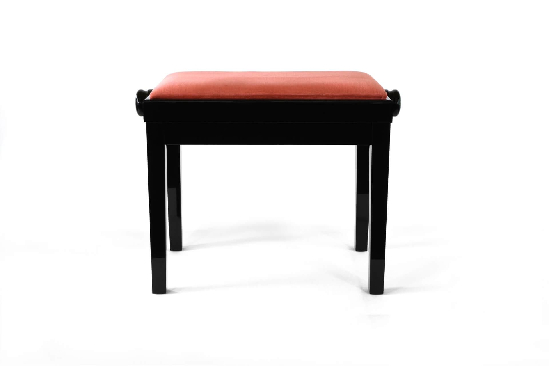 tabouret de piano rossini velours rose bois de couleur noir. Black Bedroom Furniture Sets. Home Design Ideas