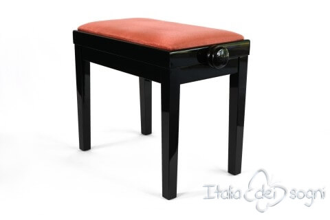 "Small Bench for Piano ""Rossini"" - pink velvet"
