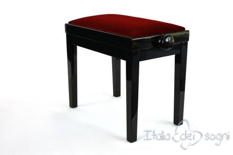 """Small Bench for Piano """"Rossini"""" - red velvet"""