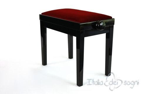 "Small Bench for Piano ""Rossini"" - red velvet"