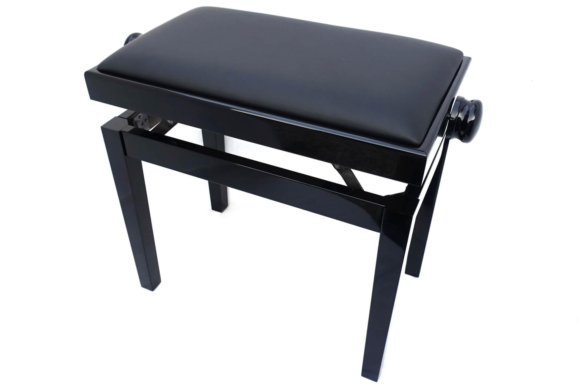 tabouret de piano rossini veritable cuir noir. Black Bedroom Furniture Sets. Home Design Ideas
