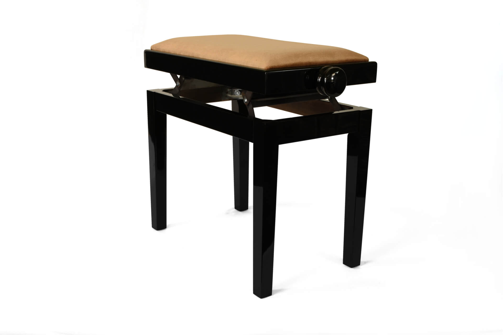 tabouret de piano rossini velours noisette. Black Bedroom Furniture Sets. Home Design Ideas