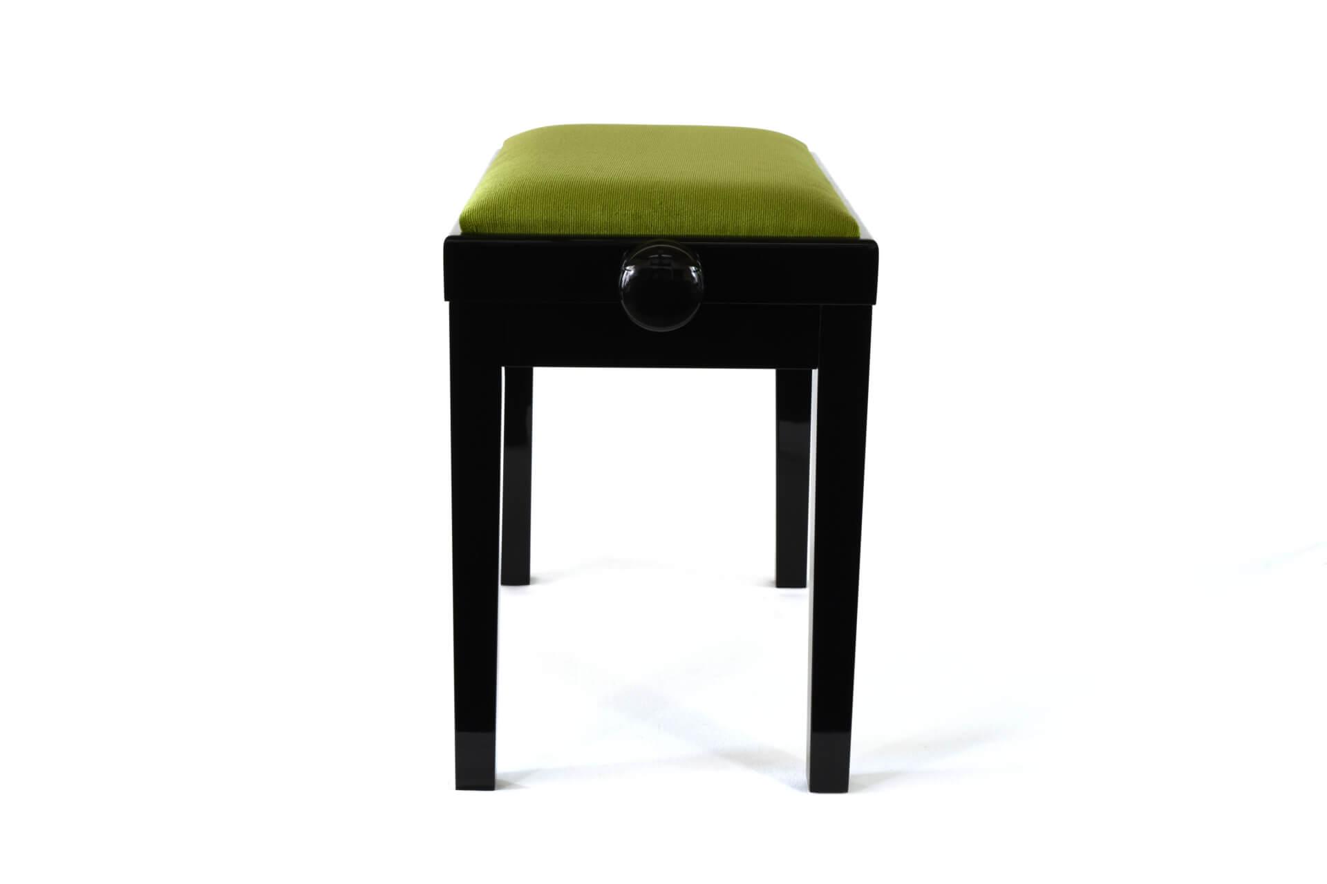 tabouret de piano rossini velours vert. Black Bedroom Furniture Sets. Home Design Ideas