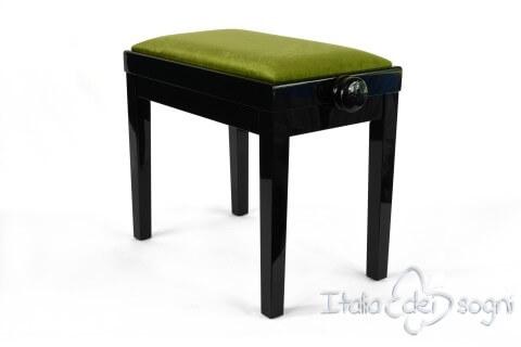 """Small Bench for Piano """"Rossini"""" - green velvet"""