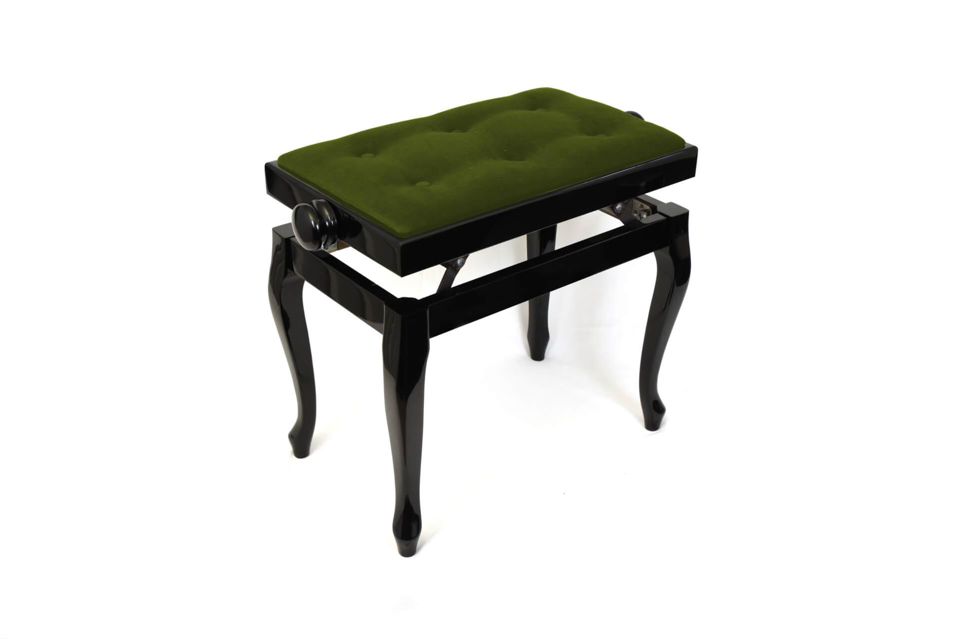 tabouret de piano vivaldi velours vert. Black Bedroom Furniture Sets. Home Design Ideas