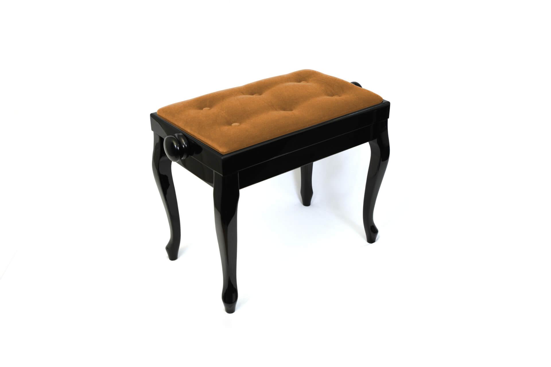 tabouret de piano vivaldi velours noisette. Black Bedroom Furniture Sets. Home Design Ideas