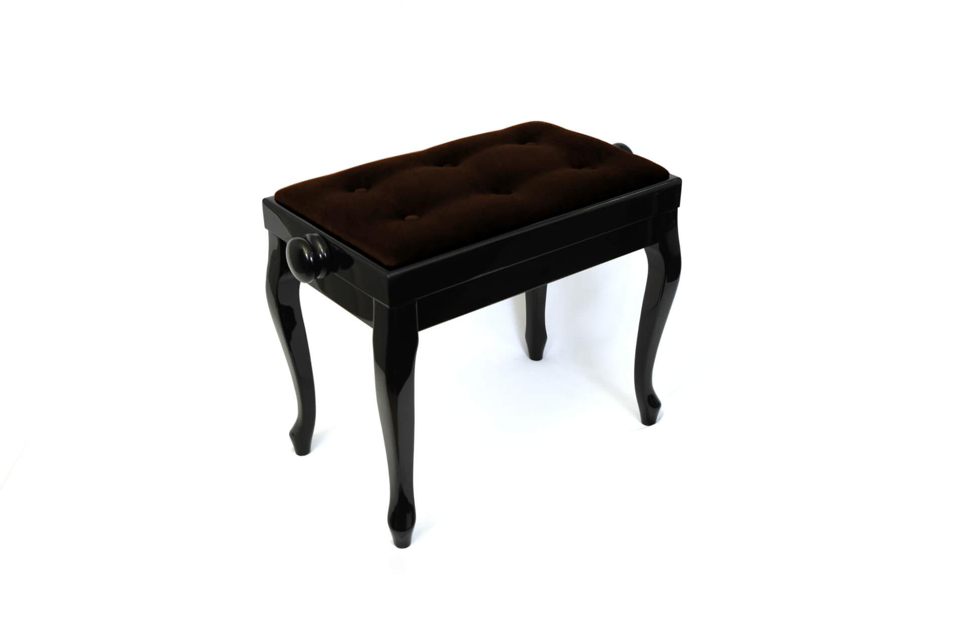 tabouret de piano vivaldi velours marron. Black Bedroom Furniture Sets. Home Design Ideas