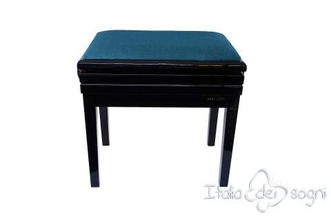 "Klavierbank ""Verdi"" - Samt hellblau"