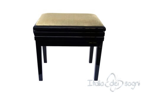 "Small Bench for Piano ""Verdi"" - beige velvet"