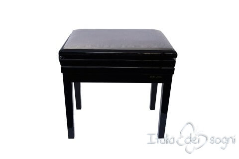 "Small Bench for Piano ""Verdi"" - gray velvet"