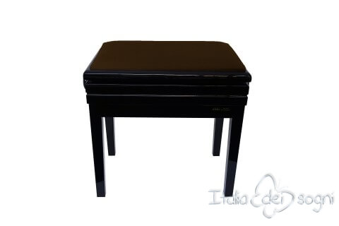 "Small Bench for Piano ""Verdi"" - brown velvet"