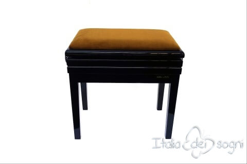 "Small Bench for Piano ""Verdi"" - gold velvet"