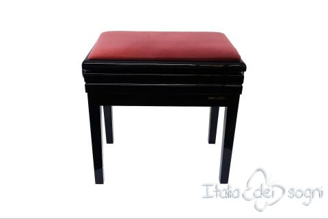"Small Bench for Piano ""Verdi"" - pink velvet"