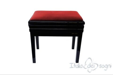 """Small Bench for Piano """"Verdi"""" - red velvet"""
