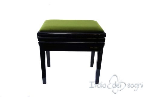 "Small Bench for Piano ""Verdi"" - green velvet"