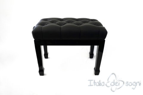 "Bench for Concert Piano ""Puccini"" - real leather black"
