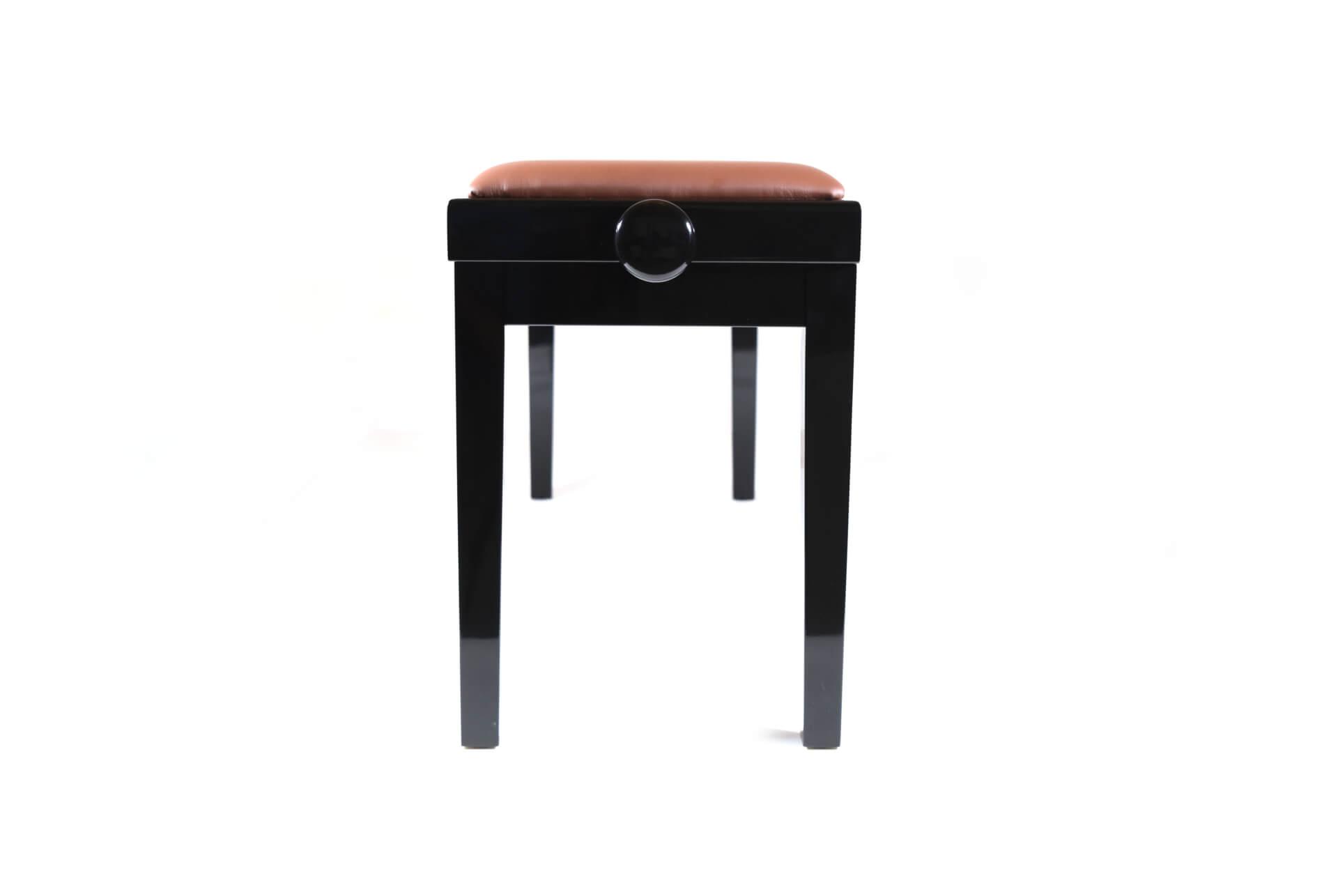 tabouret de piano double mascagni veritable cuir marron. Black Bedroom Furniture Sets. Home Design Ideas