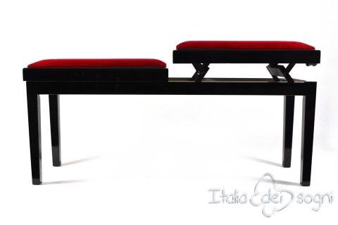 """Bench for Piano """"Mascagni"""" - red velvet"""
