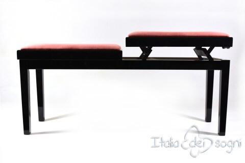 """Bench for Piano """"Mascagni"""" - pink velvet"""