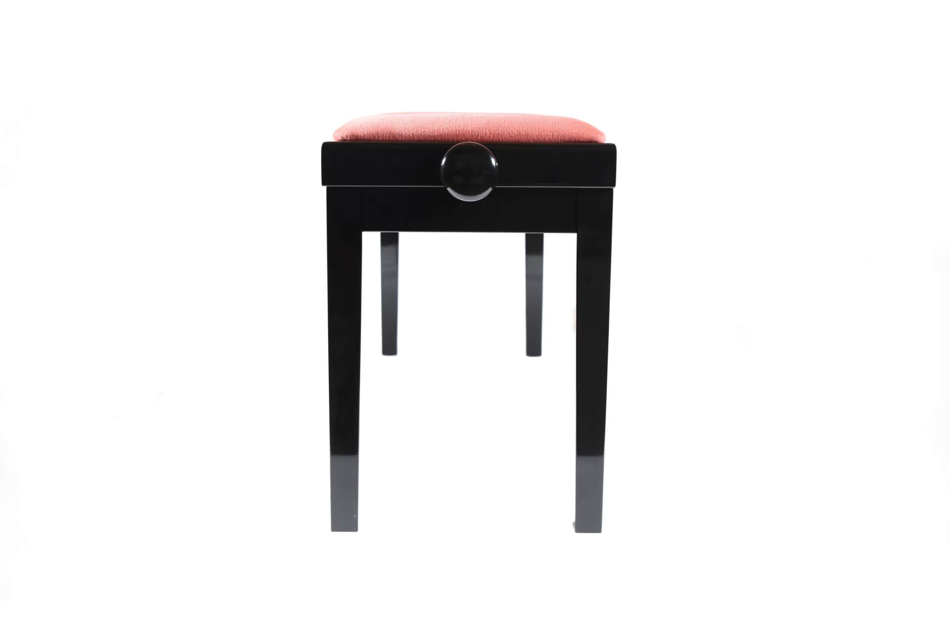 tabouret de piano double mascagni velours rose. Black Bedroom Furniture Sets. Home Design Ideas