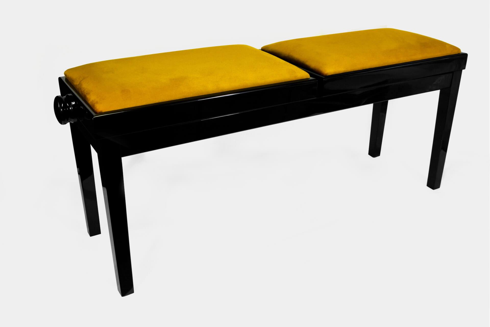 tabouret de piano double mascagni velours d 39 or. Black Bedroom Furniture Sets. Home Design Ideas
