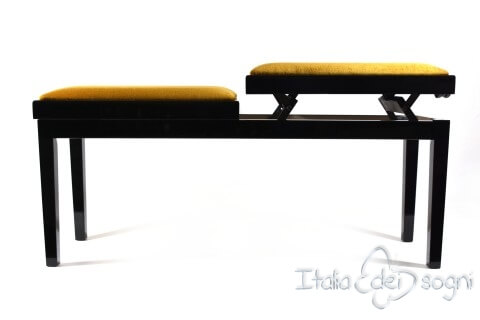 "Bench for Piano ""Mascagni"" - gold velvet"