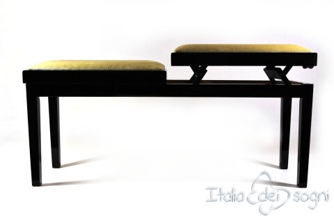"Bench for Piano ""Mascagni"" - hazelnut velvet"
