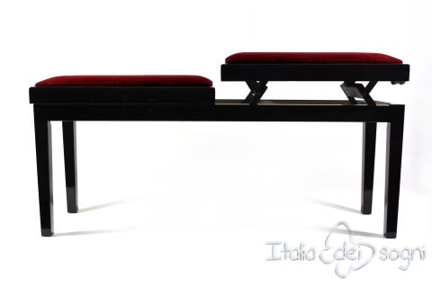 "Bench for Piano ""Mascagni"" - bordeaux velvet"
