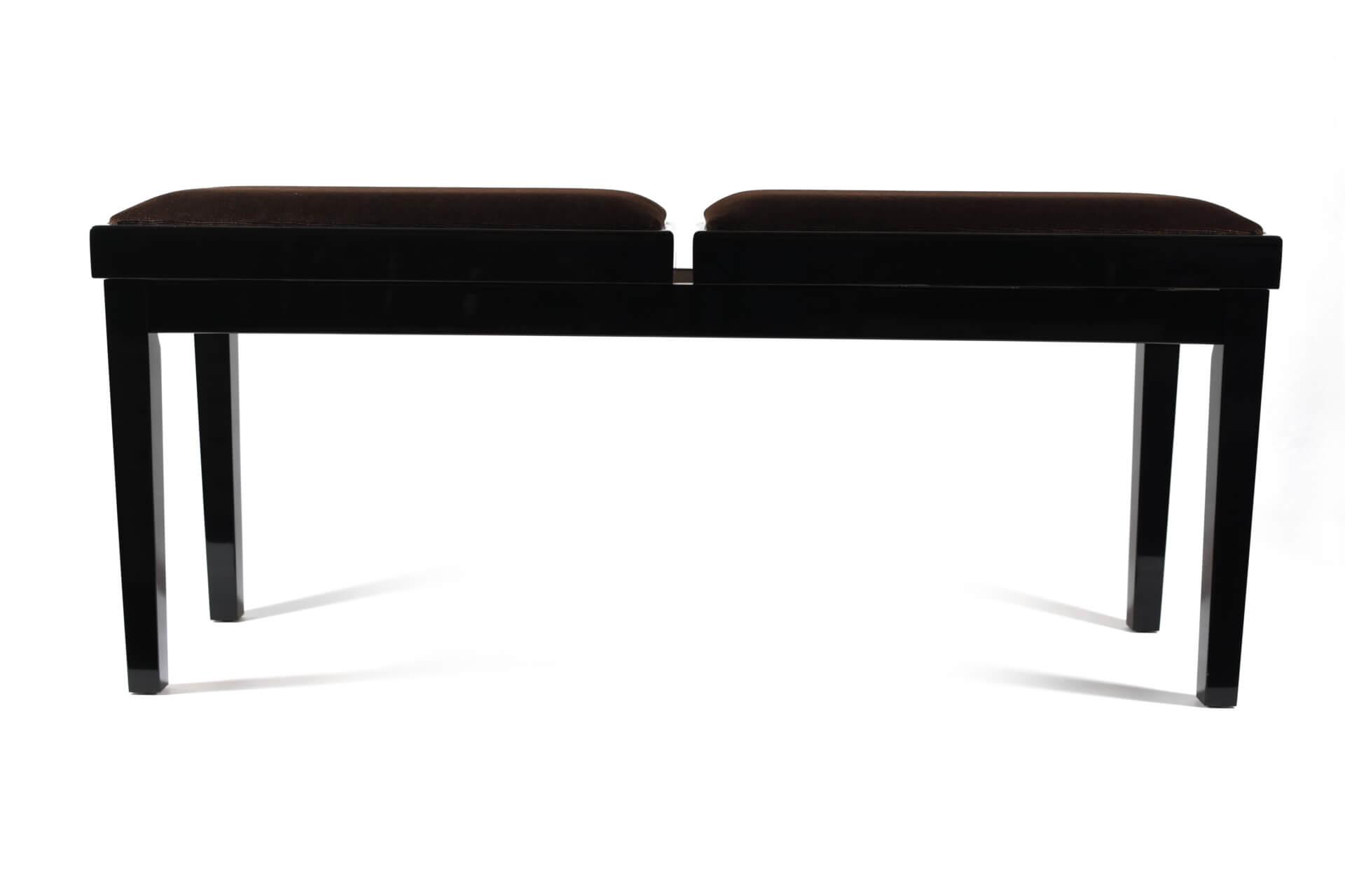 tabouret de piano double mascagni velours marron. Black Bedroom Furniture Sets. Home Design Ideas