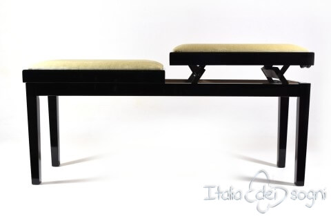 "Bench for Piano ""Mascagni"" - beige velvet"