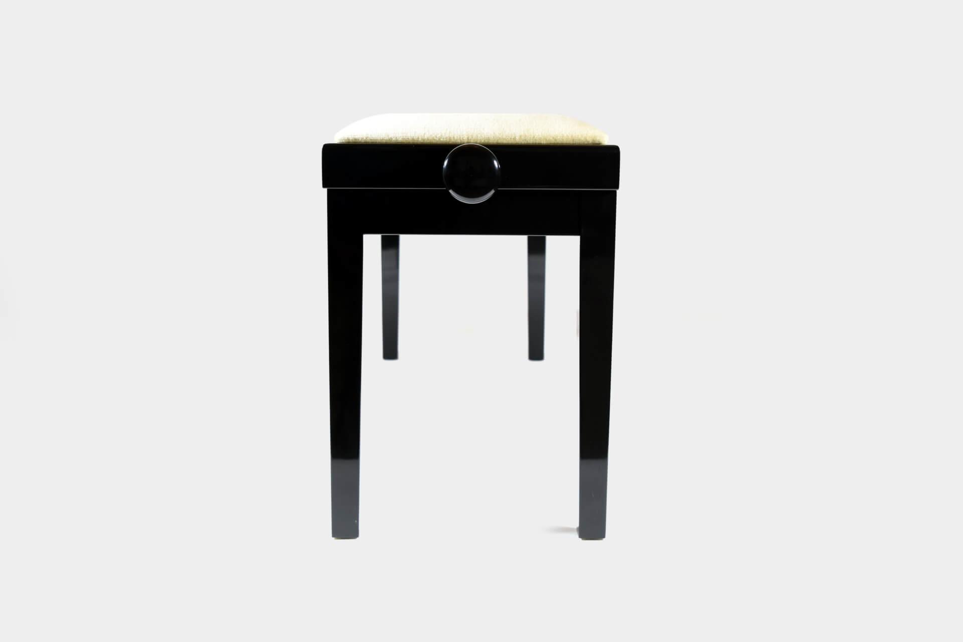 tabouret de piano double mascagni velours beige. Black Bedroom Furniture Sets. Home Design Ideas