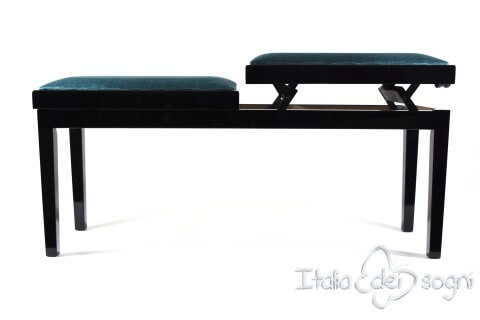 "Bench for Piano ""Mascagni"" - light blue velvet"