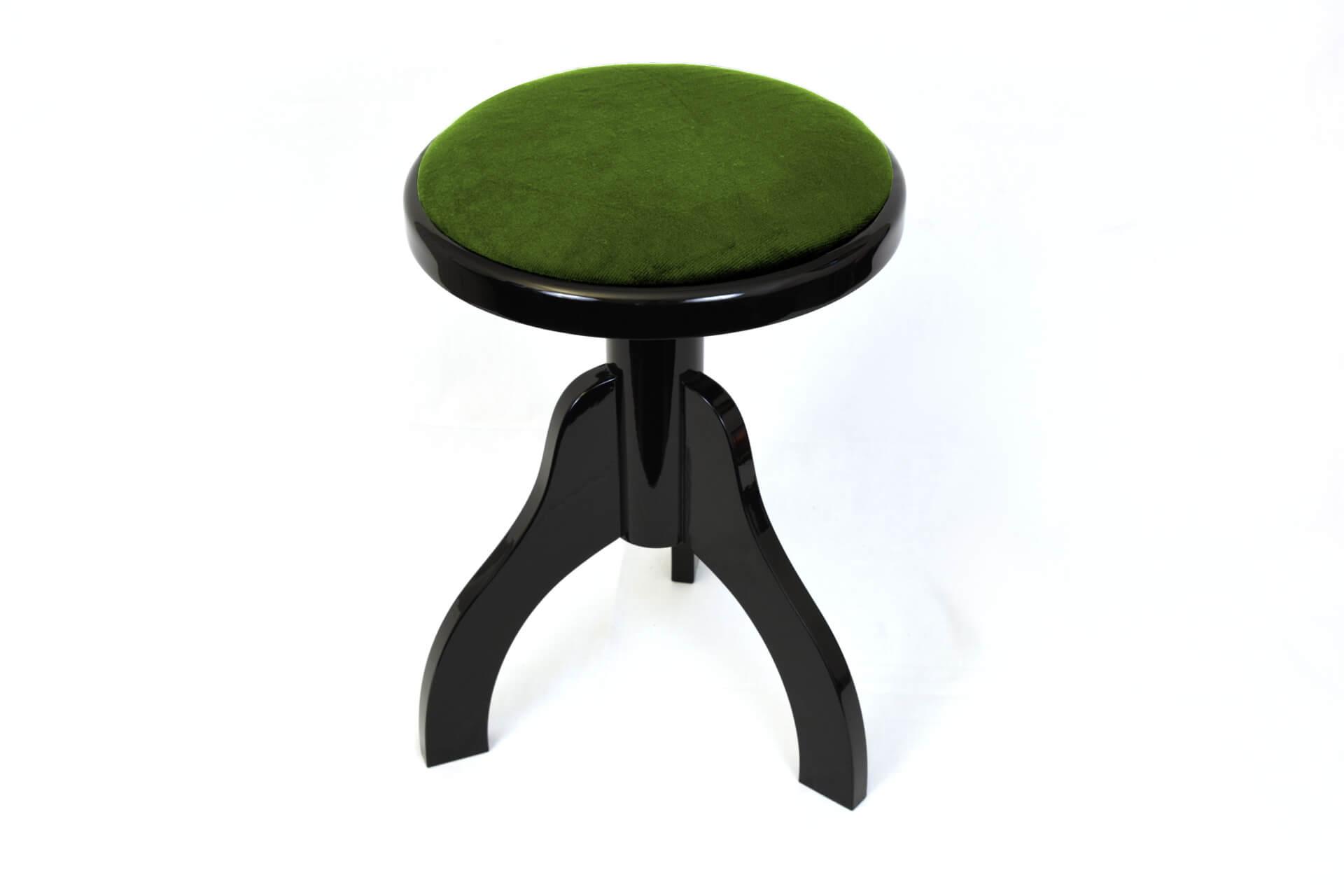 Sgabello per arpa a tre gambe u201ctartiniu201d velluto verde