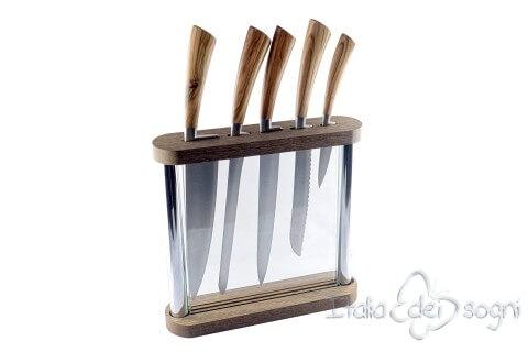 Porte couteaux cristal olivier