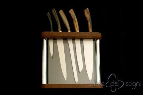 Portacoltelli cristal bue