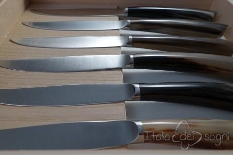 6 coltelli bistecca nobile bue