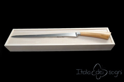 ham knife, olive wood