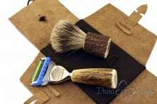 travel shaving set, deer