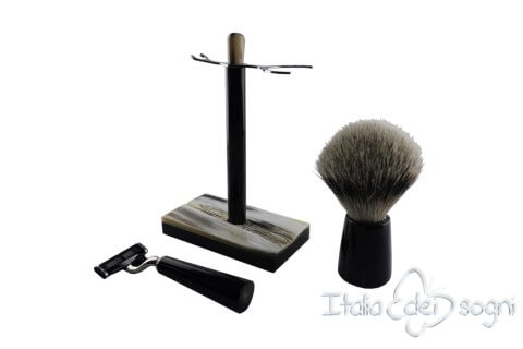 bathroom shaving set, buffalo