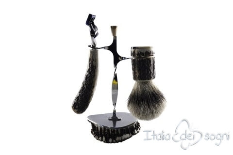 bathroom shaving set, deer