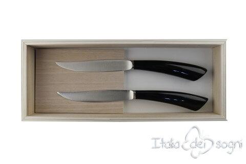 2 couteaux à steak nobile buffle