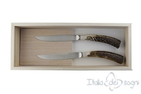 2 coltelli bistecca nobile cervo