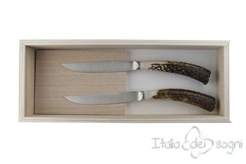 2 couteaux à steak nobile cerf
