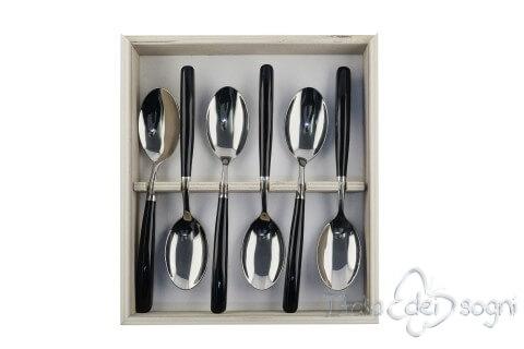 6 cucchiai resina nero